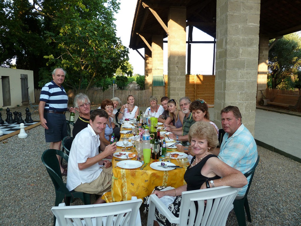 Group BBQ at Domaine de Barthe