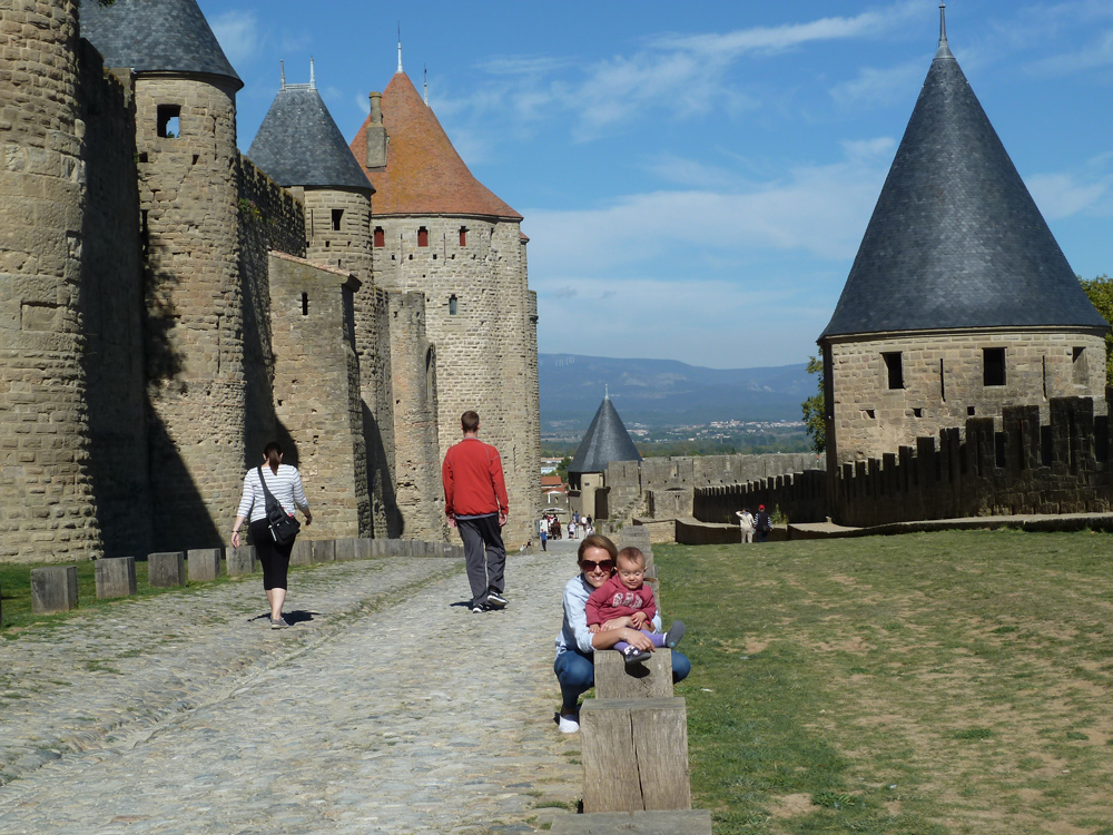 The ramparts at Carcassonne mediaeval cite