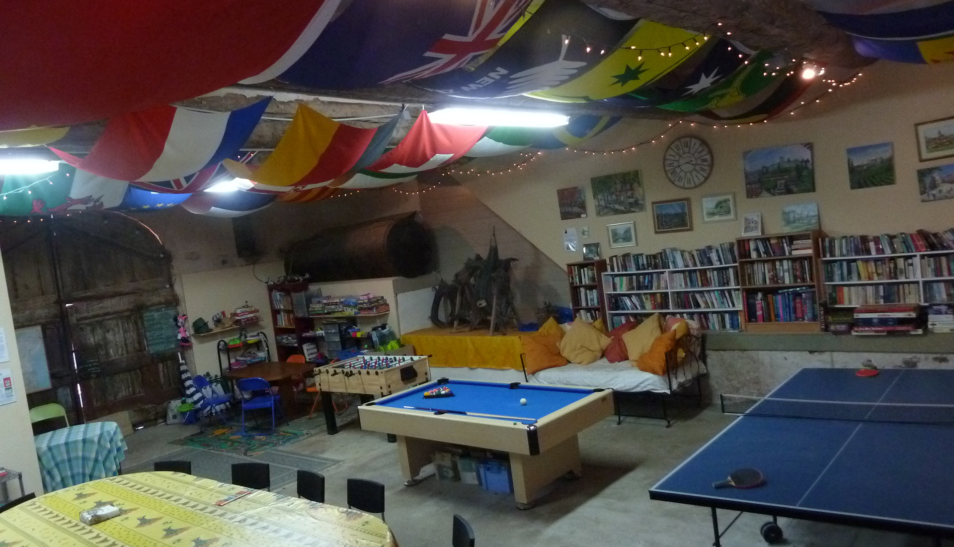 Games room at Domaine de Barthe